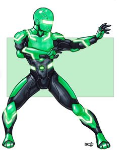 Zeo Ranger 4: Green by DavidFernandezArt on deviantART