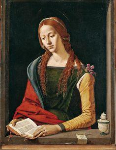 Piero di Cosimo (Firenze 1462 – 1522) Santa Maria Maddalena 1490 circa Tavola Roma, Galleria Nazionale d'Arte Antica,Palazzo Barberini