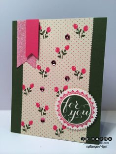Stampin' Up!, Paper Players 201, Hello There, All Abloom DSP, Dazzling Diamonds Glimmer Paper, Starburst Framelits, 1 3/8 Circle Punch, Tiny Wave Stampin' Trimmer Blade, 2013-2015 In-Color Sequins