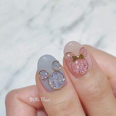 Miki y Minni Fancy Nails, Pink Nails, Cute Nails, Pretty Nails, Feet Nail Design, Acrylic Nail Designs, Nail Art Designs, Fabulous Nails, Gorgeous Nails