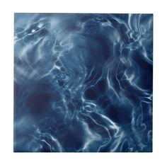 Shop Deep Blue Ocean Waters Dark Waves Patterns Ceramic Tile created by Personalize it with photos & text or purchase as is! Water Abstract, Water Patterns, Water Ripples, Slytherin Aesthetic, Blue Poster, Gray Aesthetic, Ocean Photography, Deep Blue, Waves