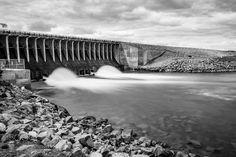 Jackson Lake Dam B&W by mclement9748