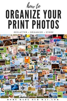 Picture Storage, Photo Storage Boxes, Best Photo Storage, Photo Album Storage, Do It Yourself Organization, Organization Ideas, Organizing Tips, Organising, Paperwork Organization