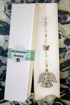 Car Mirror hanger  Car Charm  Guardian Angel by SKYCHASEJEWELS, $14.00