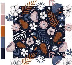 New pattern, fresh from the oven! #cottonflowerstudio #surfacepattern #surfacedesign #pattern #patterndesign #estampa #designdesuperficie #design #creativelifehappylife #floral #workinprogress #doitfortheprocess