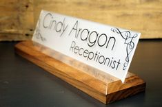 Desk Accessories for Office Name Plate Personalized Wooden Sign Makes a Great Business Professional Gift 10 x 2.5