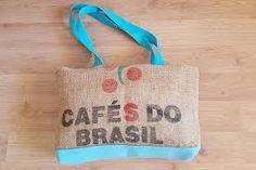 Resultado de imagen para bolsos de tela con frases Burlap, Reusable Tote Bags, Brazil Cafe, Frases, Fabric Handbags, Hessian Fabric, Canvas