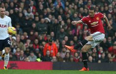 Nemanja Matic of Manchester United in action during the Premier League match between Manchester United and Tottenham Hotspur at Old Trafford on...