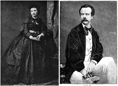 Charles Worth was hired as a salesman in 1847 by the renowned Gagelin magasin de nouveautés, Paris, which specialized in the sale of fabrics, shawls, embroideries and laces to privileged clientele. In 1850 he started using a sales woman, Marie Vernet as a model as he began to design simple dresses for her that were meant to show off the wares at Gagelin. Later his wife, she continued to introduce his increasingly in-demand designs both in the shop and at events around Paris.