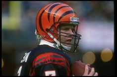 Boomer and one of the most beautiful helmets ever...The Cincinnati Bengals