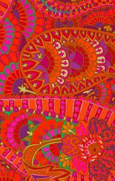 colorful paisley motif by Kaffe Fassett design Textiles, Textile Prints, Textile Patterns, Textile Design, Textile Art, Color Patterns, Fabric Design, Print Patterns, Pattern Design