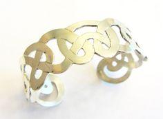 Sterling Silver cuff bracelet Celtic style eternal by MayStudios, $145.00
