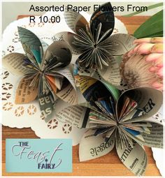 Collections Paper Flowers, Table Settings, Fairy, Gift Wrapping, Decorations, Collections, Gifts, Paper Wrapping, Presents
