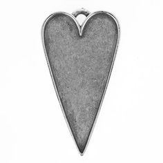 54x30mm Nunn Design Antique Sterling Silver Plated Pewter Grande Heart Collage Pendant