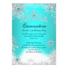blue chandelier masquerade quinceanera invite 5 x 7 invitation