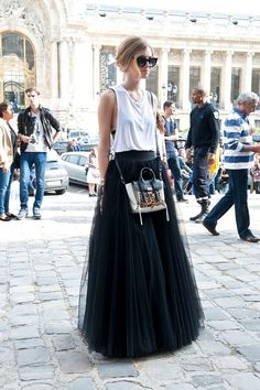 Schwarzer Tüll Maxi Skirt Tutu-Rock von HiddenRoom auf Etsy