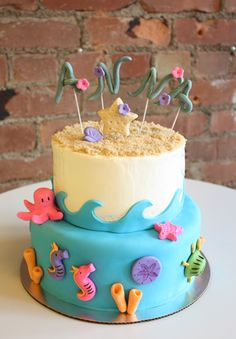 under the sea baby shower cake | Under the Sea Luau Cake