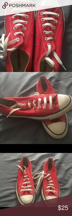 Converse sneakers Red converse Converse Shoes Sneakers