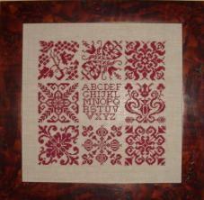 Horizontal Christmas Alphabet Rovaris single color cross stitch chart