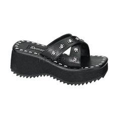 DEMONIA FLIP-05 Black Pu Sandals