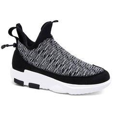 Slip-On Color Block Platform Athletic Shoes