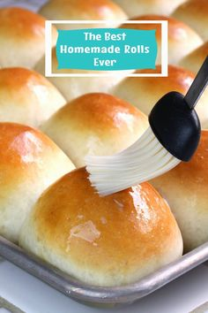The Best Homemade Dinner Rolls Ever! Perfectly soft homemade dinner rolls, a recipe that took 5 years to perfect! These really are the best homemade dinner rolls ever! Homemade Dinner Rolls, Homemade Buns, Homemade Breads, Dinner Rolls Easy, Homemade Yeast Rolls, Fluffy Dinner Rolls, Soft Yeast Rolls Recipe, Soft Rolls Recipe, Best Homemade Rolls Recipe