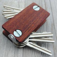 Wooden mahagony keychain