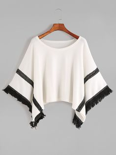 Indian Fashion Dresses, Girls Fashion Clothes, Teen Fashion Outfits, Girl Fashion, Poncho Pullover, Poncho Sweater, Poncho Dress, Crop Top Outfits, Cute Casual Outfits