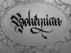 JG: This is black letter because of the thick gothic fonts shown here.