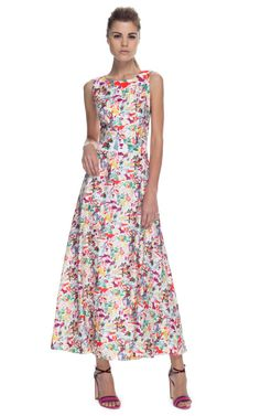 Shop Carolina Herrera Lovers Print Twill Longuette Sleeveless Dress at Moda Operandi