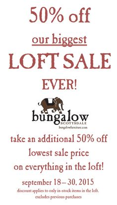 50% off our biggest LOFT SALE EVER!!!   Take an additional 50% off lowest sale price on everything in the loft!