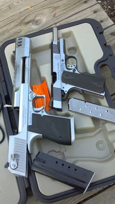 50AE DESERT EAGLE AND 45 SPRINGFIELD 1911 FULL SIZE