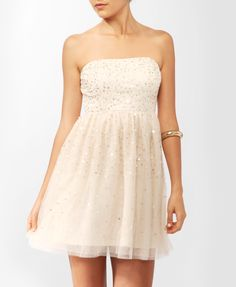 Sequined Mesh Tube Dress | FOREVER21 - 2000046311