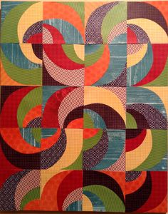 I wonder if this could be paper pieced? Quilting Projects, Quilting Designs, Drunkards Path Quilt, 3d Foto, Circle Quilts, Quilt Modernen, Circle Art, Contemporary Quilts, Scrappy Quilts