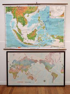 A VINTAGE MAP OF SOU