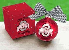 The Ohio State University OSU Buckeyes Logo Christmas Ornament $18.00