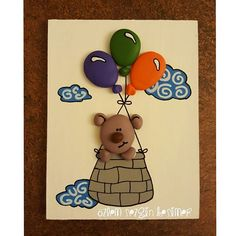 SemSees Sparkly Scribblings: TAWS: Hooked / Frog wall art framed painted stone art wall decor for kids