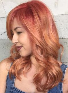 Strawberry Blonde Hair With Pink Roots