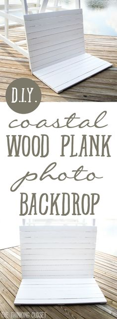 Diy Coastal Wood Plank Photo Backdrop
