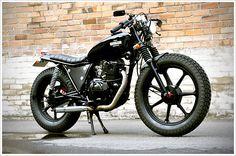 "Renegade Custom's Kawasaki Z250W -""Redback"" - Pipeburn - Purveyors of Classic Motorcycles, Cafe Racers & Custom motorbikes"