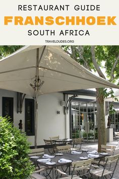 A guide to the best restaurants and wineries in Franschhoek, South Africa. 6 of the top wine and dining experiences in the Franschhoek Wine Valley. Food travel in Africa. | Travel Dudes Travel Community #Travel #SouthAfrica