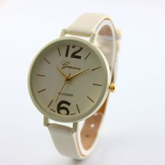 Fashion Brand watches women luxury watch Geneva Women Faux Leather Analog Quartz Wrist Watch