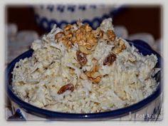 Domowa kuchnia Aniki: Surówka z selera z orzechami włoskimi i rodzynkami