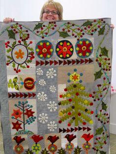 Rose's Crimson Tweed quilt via Sue Spargo