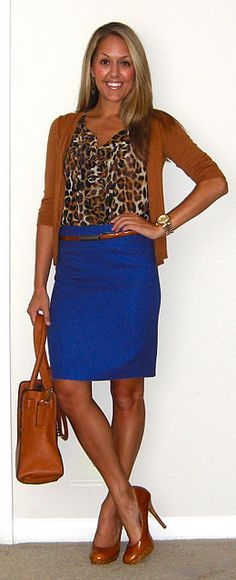 from j's everyday fashion (she's awesome). i love animal print with a bold color :)