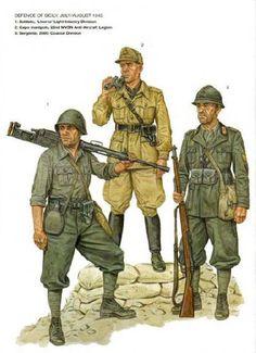 """Regio Esercito - Difesa della Sicilia 1943 - 1 Soldato Divisione di fanteria leggera """"Livorno"""" - 2 Capomanipolo, 21a Legione antiaerea MSVN - 3 Sergente 29a Divisione costiera"""