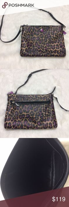Coach Ocelot Crossbody Patent Leather Bag Medium ❄️❄️OPEN TO OFFERS❄️❄️ Length 11 inches. Height 8.5 inches. Adjustable Crossbody strap. Minimal wear. No rips. No tears. No stains. Coach Bags Crossbody Bags