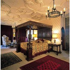 Castle Beds - Antique Reproduction Canopy Beds - Antique Canopy Great Beds - Beds Of Kings - Custom Carved Canopy Beds - Antique Beds - Antique Furniture - Four Poster Beds found on Polyvore