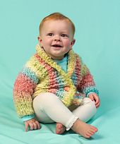Cuddle up baby cardi pattern by Lorna Miser