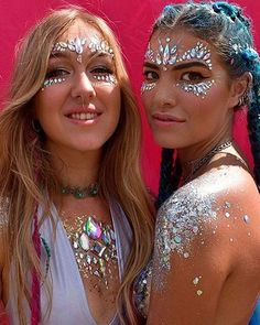 Adhesive Face Gems Festival Jewelry Temporary Face Jewels Stickers Party Body Rhinestone Flash Body Make Up Accessories Festival Looks, Festival Gems, Festival Face Jewels, Festival Make Up, Coachella Festival, Festival Style, Festival Party, Face Rhinestones, Glitter Beards